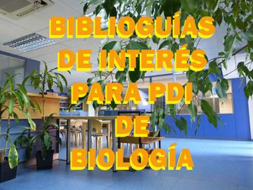 Biblioguías de interés para PDI de Biología