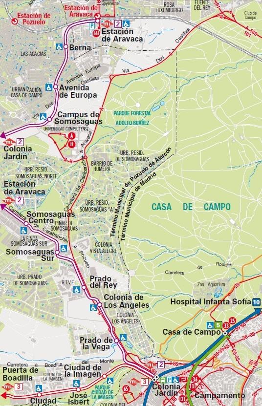 plano consorcio regional de transporte de madrid metro ligero