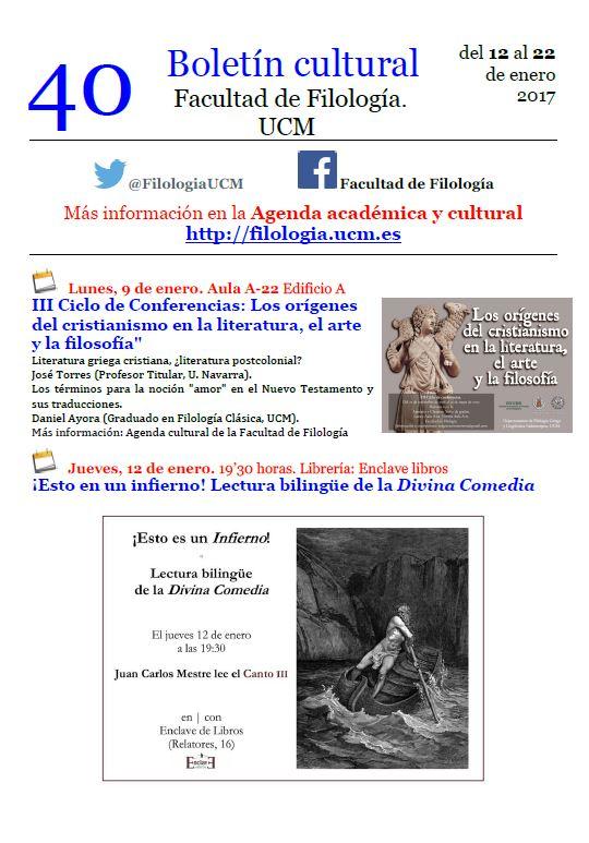 Boletín cultural 40