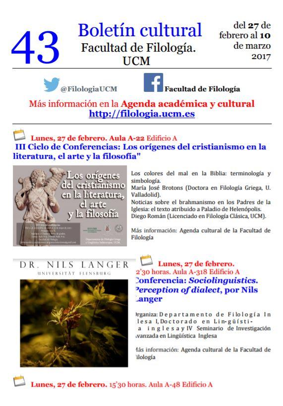 Boletín cultural 43