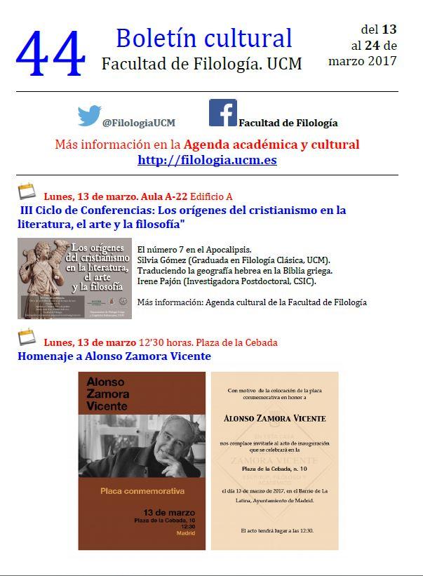 Boletín cultural 44