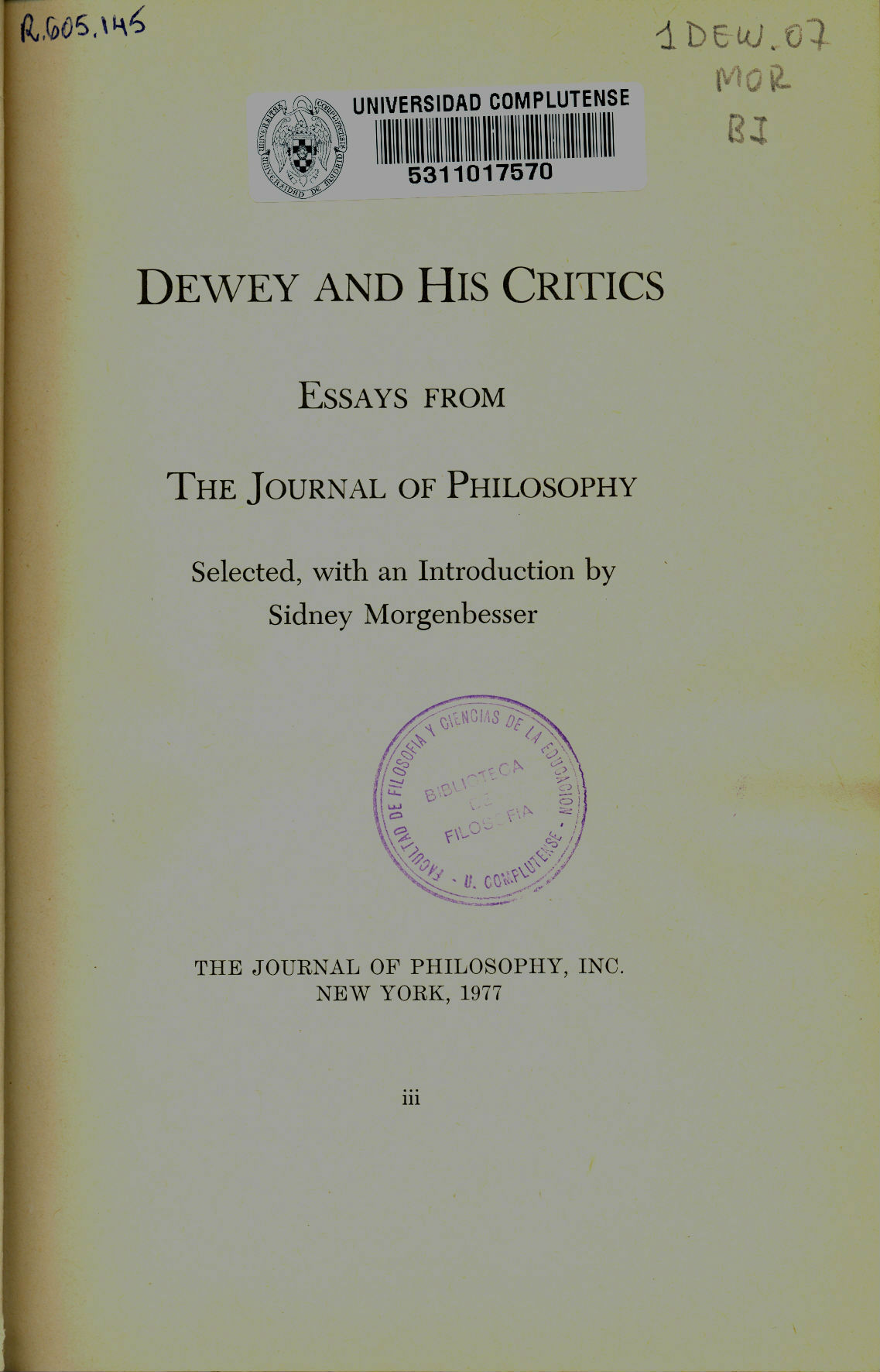 essays honor john dewey