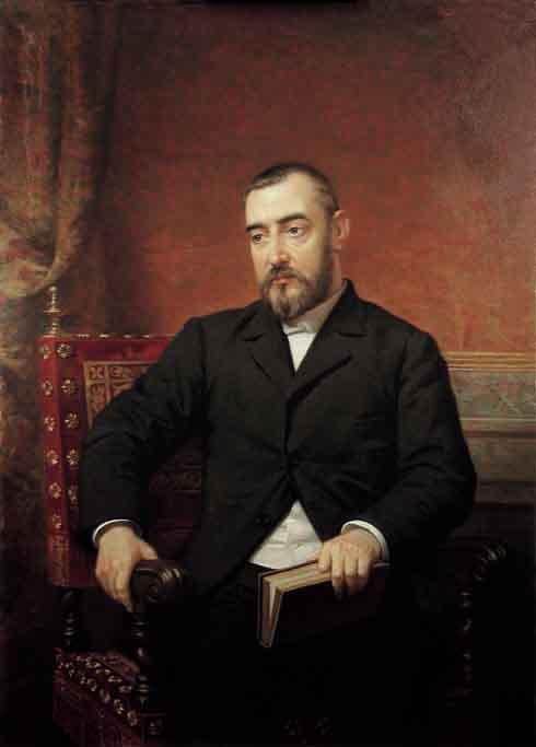 LUIS DE MADRAZO Retrato del Doctor Simarro Óleo sobre lienzo.