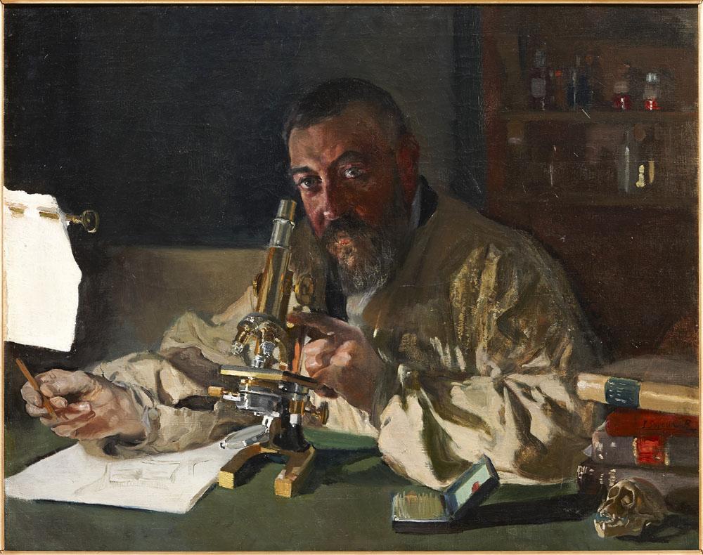 El Doctor Simarro en el laboratorio. JoaquínSorolla y Bastida.