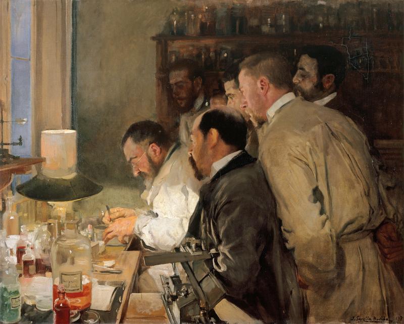 Una investigación. 1897  Joaquín Sorolla y Bastida. Óleo sobre lienzo.