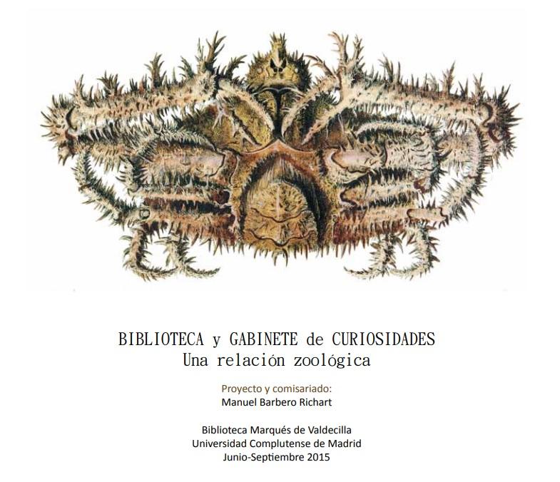 Biblioteca y Gabinete de curiosidades, una relación zoológica / Versión en línea