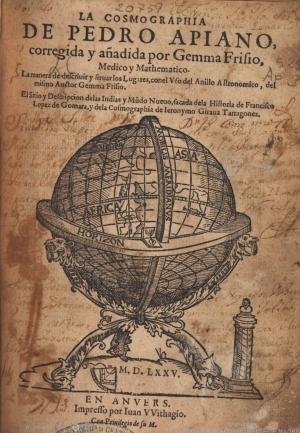 10- Petrus Apianus. La cosmographia de Pedro Apiano, 1575