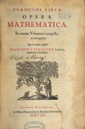 12- François Viète. Opera mathematica, 1646