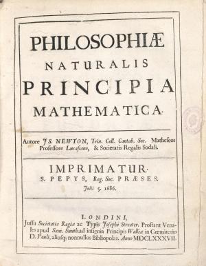 17- Isaac Newton. Philosophiae naturalis principia mathematica, 1687