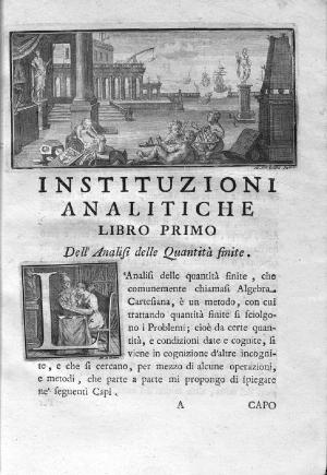 22- Maria Gaetana Agnesi. Instituzioni analitiche ad uso della gioventú italiana, 1748
